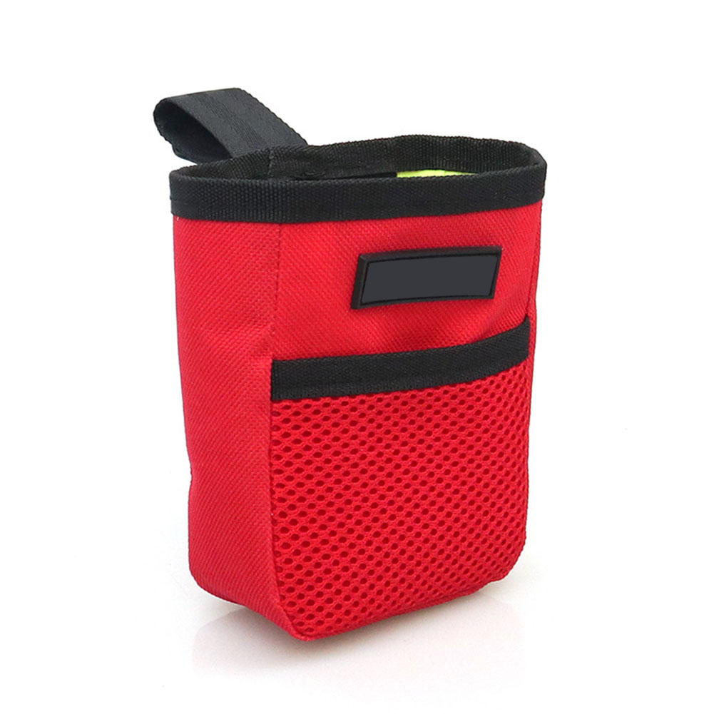 Portable Pet Summer Mini Waist Snack Bag for Outdoor Training red