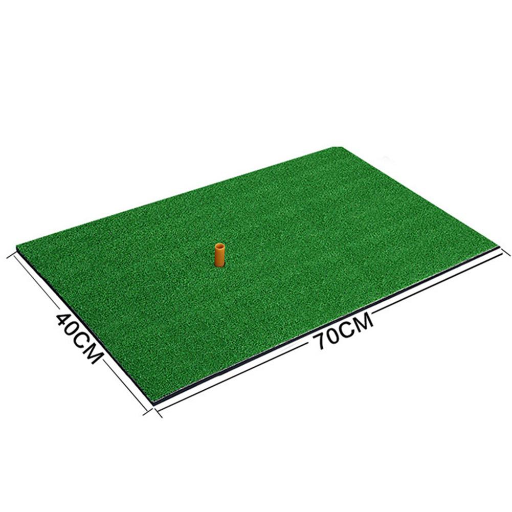 Indoor Golf Mat Backyard Practice Rubber Grass Mat Training Hitting Pad Grassroots Green Golf Training Tools  40 * 70cm ordinary version