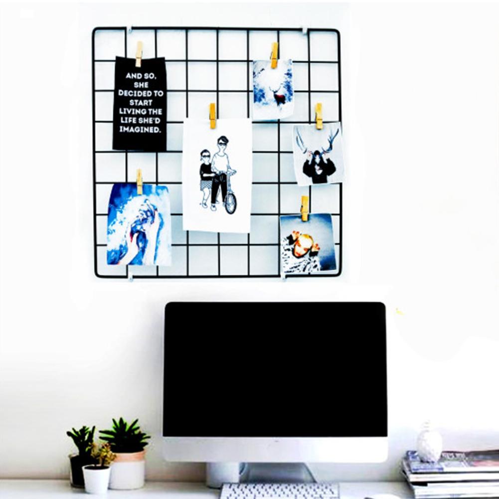 35cmx35cm Iron Grid for Wall Photes Display black