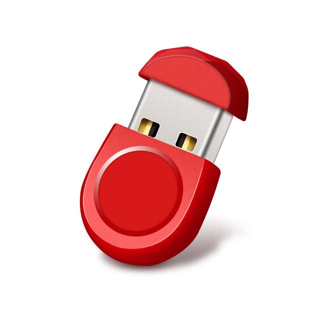 Mini Short Small U Disk 16g 32g 64g Car U Disk Usb Flash Drive Computer Mobile Music Metal Waterproof U Disk red