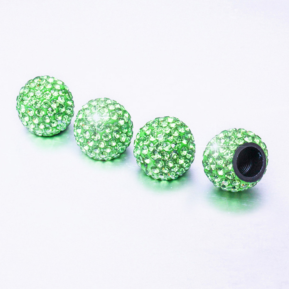 4pcs/set Car Tire Valve Stem Caps Theftproof Valve Caps Car Wheel Tires Valves Tyre Stem Air Caps Airtight Cover Light green