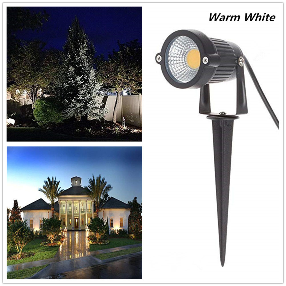 85-265V LED 5W COB Ground Lamp Waterproof Lawn Pin Lamp for Yard Garden Light Decoration