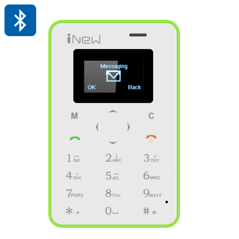 iNew Mini 1 Credit Card Phone (Green)