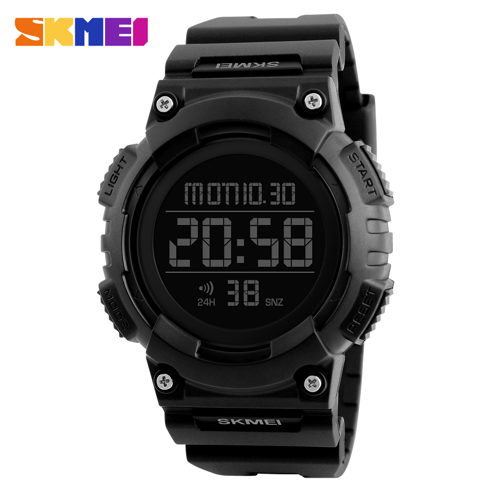 SKMEI Men Sport Watch Waterproof Fashion Outdoor Noctilucent Electronic Watch black
