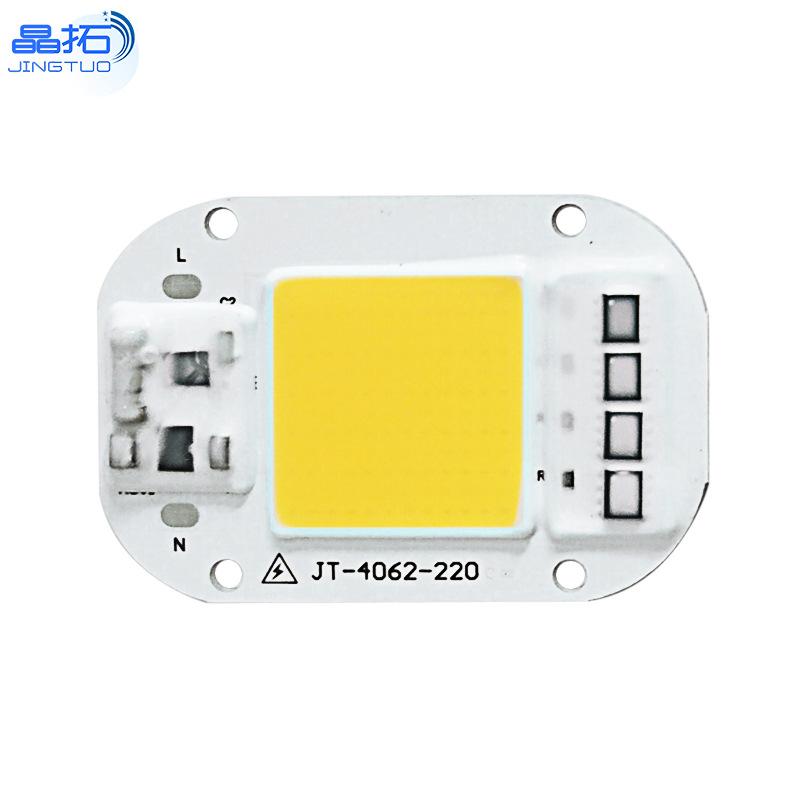 AC 220V 20W/30W/50W Free Driver High Pressure LED Chip COB Light Source 220V-50W-6500K