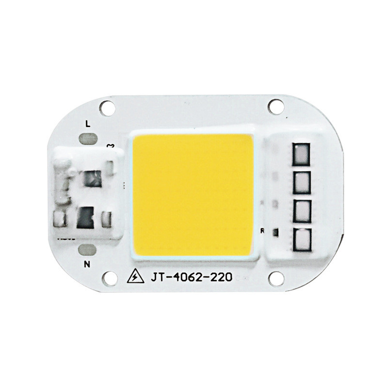AC 220V 20W/30W/50W Free Driver High Pressure LED Chip COB Light Source 20W neutral light 4500K