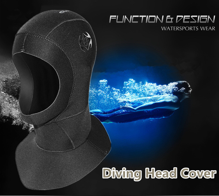 SLINX 3mm Diving Head Cover Keeping Warm Waterproof Cap for Swimming Surfing  L