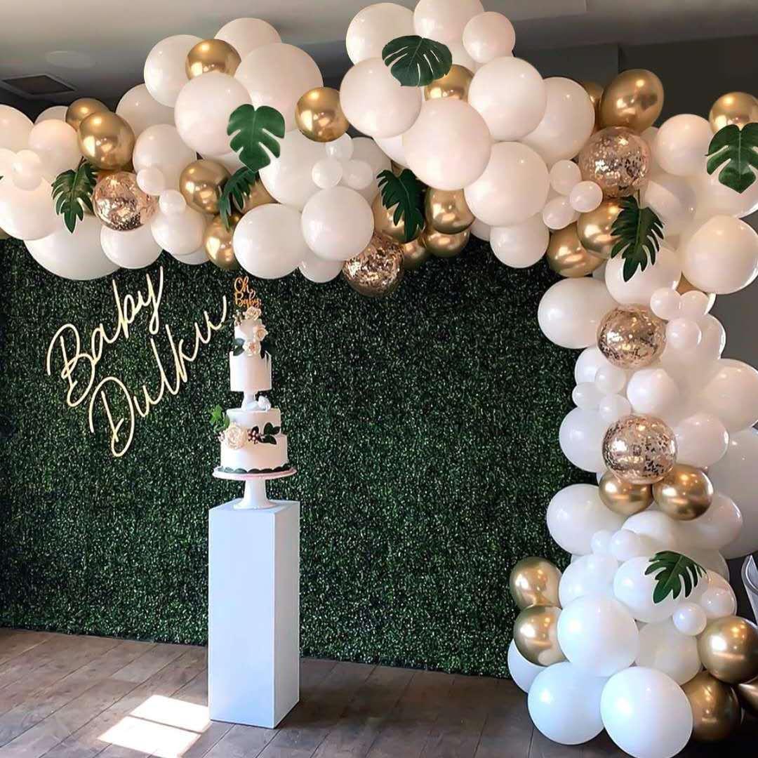 1 Set Balloon  Garland Set Hawaiian Balloon Set For Party Birthday Wedding Decoration 100PCS Platinum Set