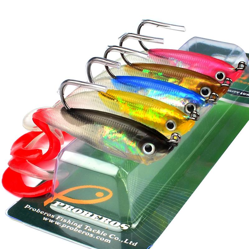 5Pcs Fishing Lures Set 10cm 14.7g Soft Silicone Grub Bait Artificial Baits with Shank Hook 10cm_5 pcs