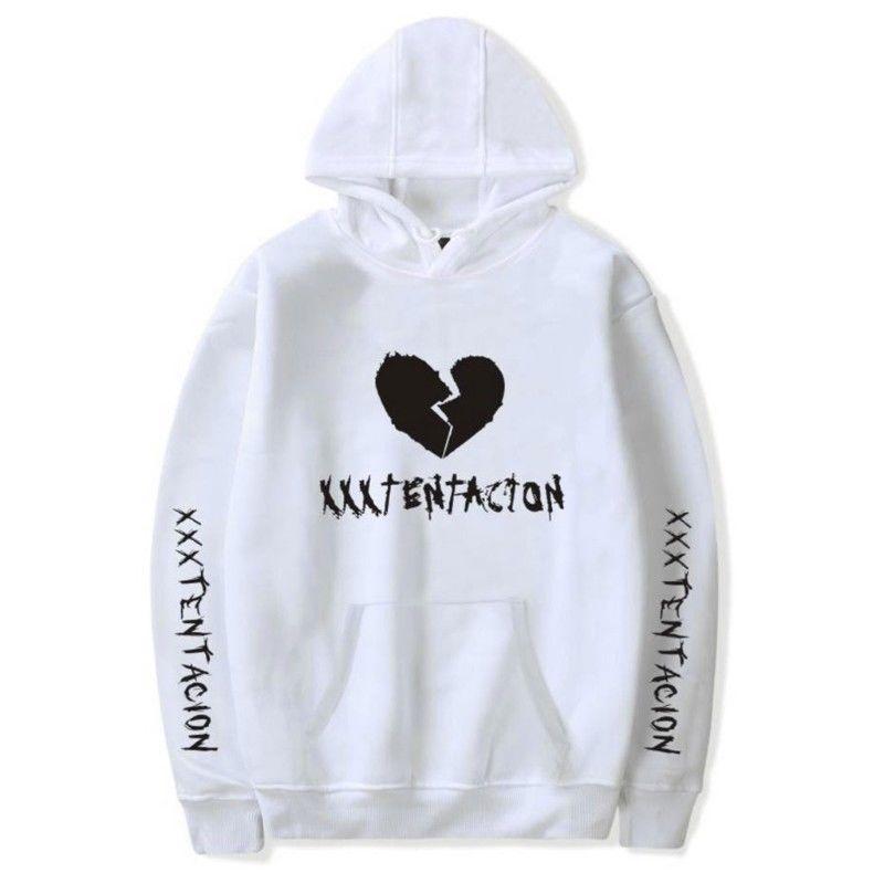 Men/Women Heartbreak Hoodie Fashionable Warm Fleeced Hooded Pullover Top white_L