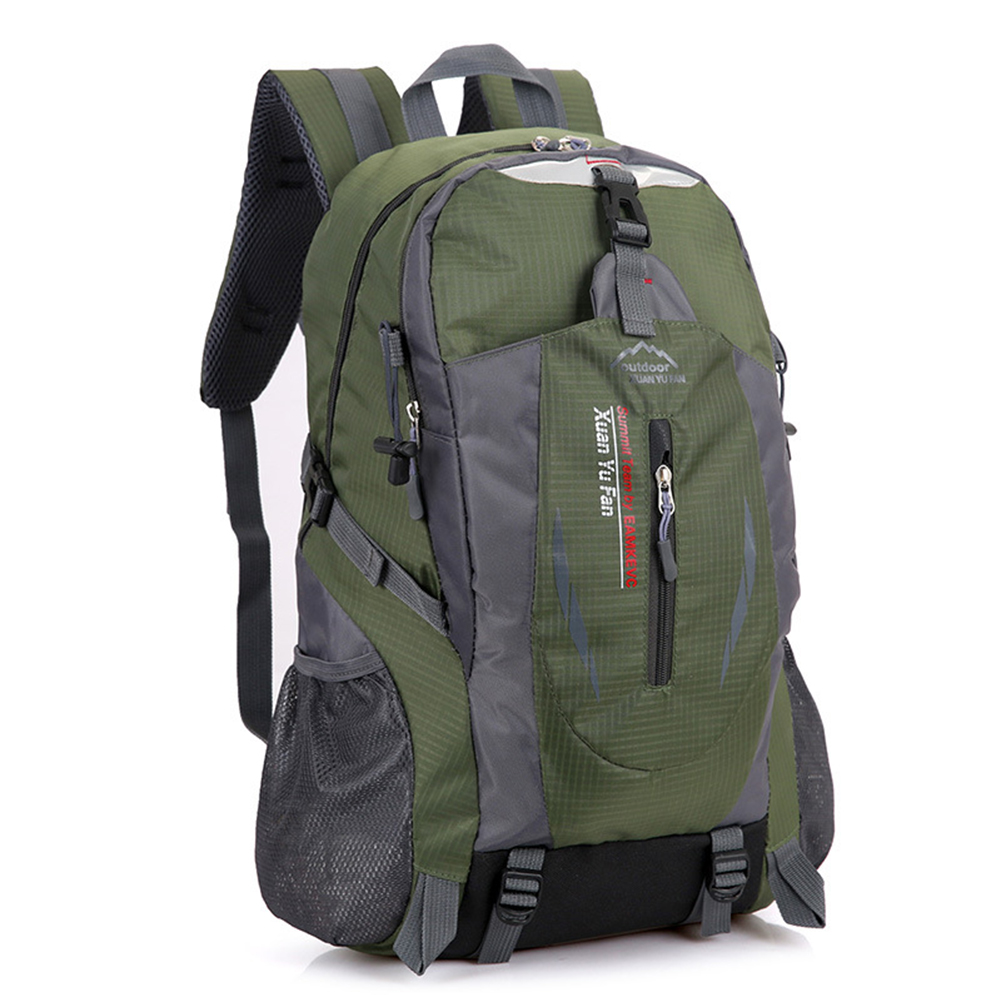 Outdoor Sporting Backpack, Waterproof Large Capacity Durable Knapsack for Mountaineering Hiking Traveling Camping Army green