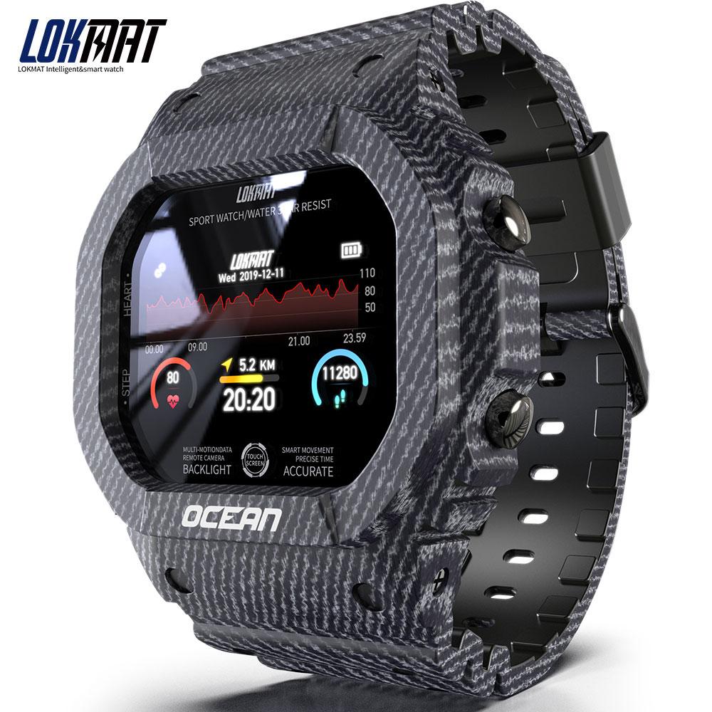 Ocean Smart Watch Men Women Fitness Tracker Blood Pressure Message Push Heart Rate Monitor Clock Smartwatch Blue