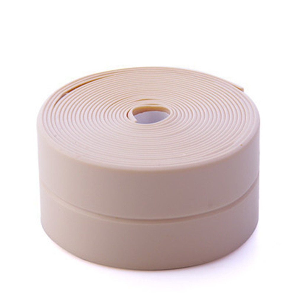 1roll PVC Sealing  Strip Kitchen Bathroom Waterproof Mildew Proof Seal Tape Plain Pink_3.2m*3.8cm