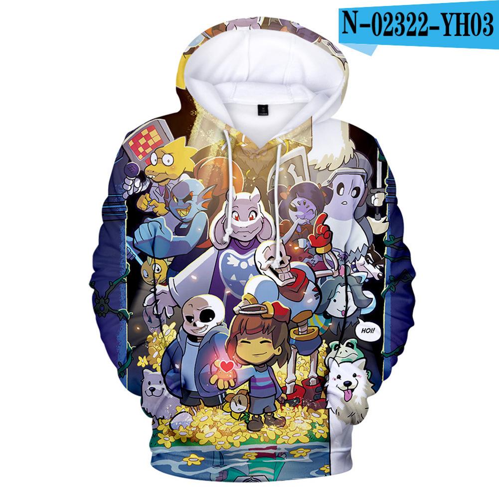 Men Women Undertale Series 3D Digital Printing Hooded Sweatshirts B_XXL