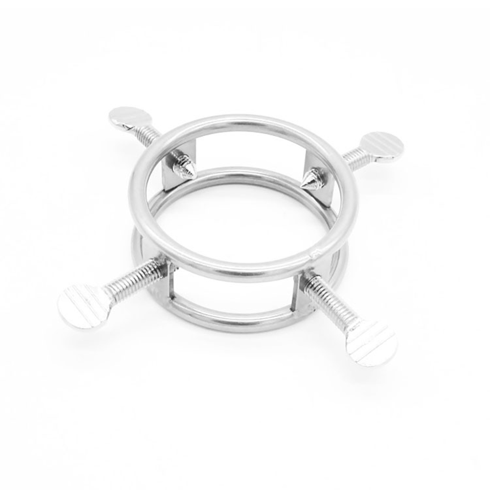 Male Stainless Steel Chastity Ring Penis Lock Restraints Torture Toy for BDSM Couples 45mm