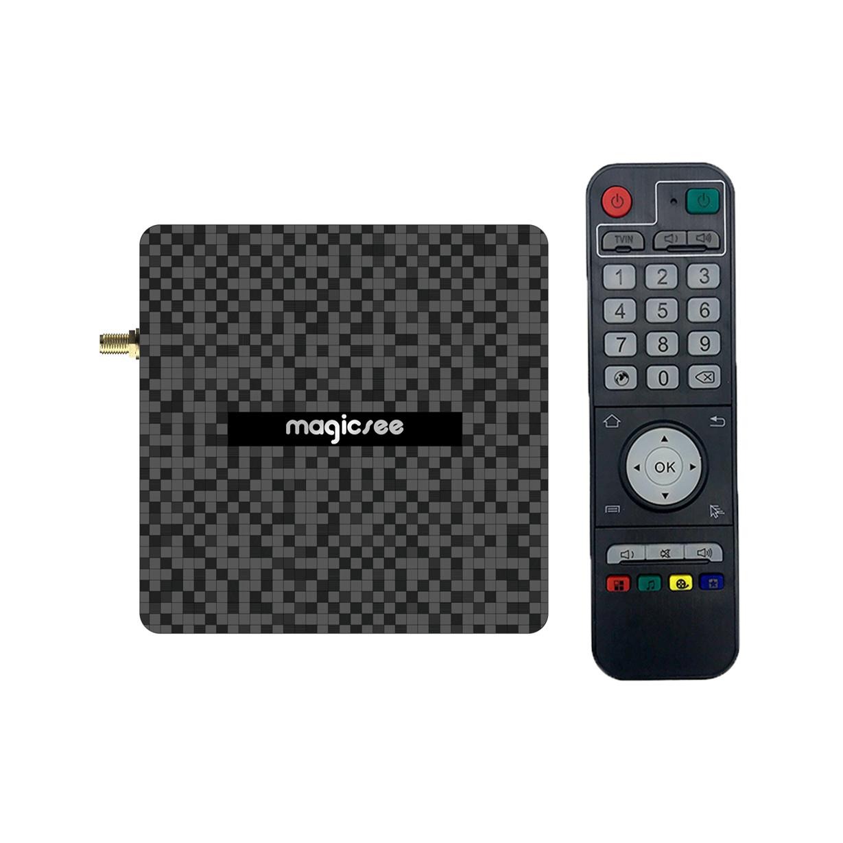 TV Box Smart Android 9.0 DDR4 4GB 32GB/64GB N6 Plus Amlogic S922X Dual Wifi Bluetooth Gigabit Ethernet Media Player Set Top Box black_4 + 32GB U.S. regulations