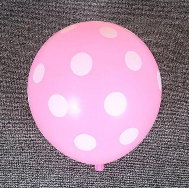 [EU Direct] 12 Inches Light Pink Dot Polka Dot Balloons - Made in USA