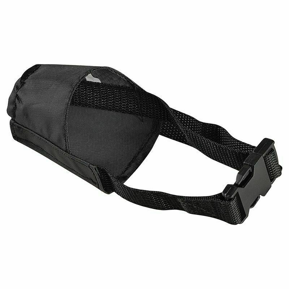 5Pcs/bag Dog Muzzle Bite-proof Black Adjustable Nylon Oxford Soft No Bark Chew Pet Supply black_number 1