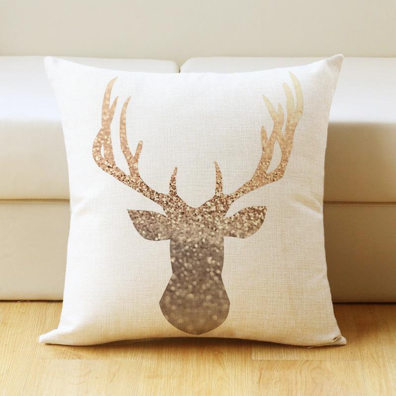 [EU Direct] British Style Printed Cotton Linen Decorative Pillow Case Home Sofa Pillowcase Car Back Cushion Covers 44 X 44 cm_I4-1 (6)