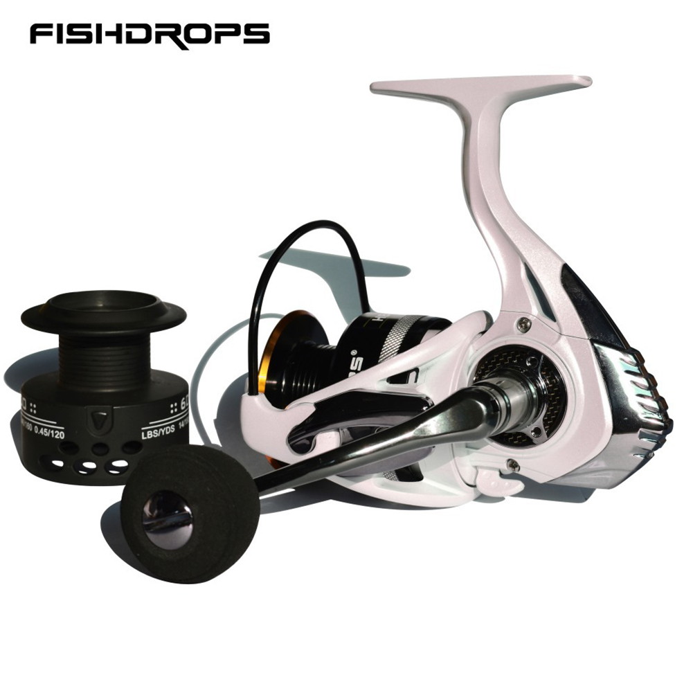 Spinning Fishing Reel Metal Power Handle Carbon Fiber Drag Systems Saltwater Freshwater Fishing Reel 3000