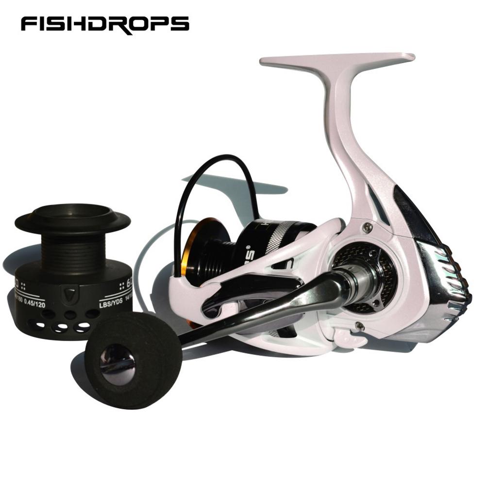 Spinning Fishing Reel Metal Power Handle Carbon Fiber Drag Systems Saltwater Freshwater Fishing Reel 1000