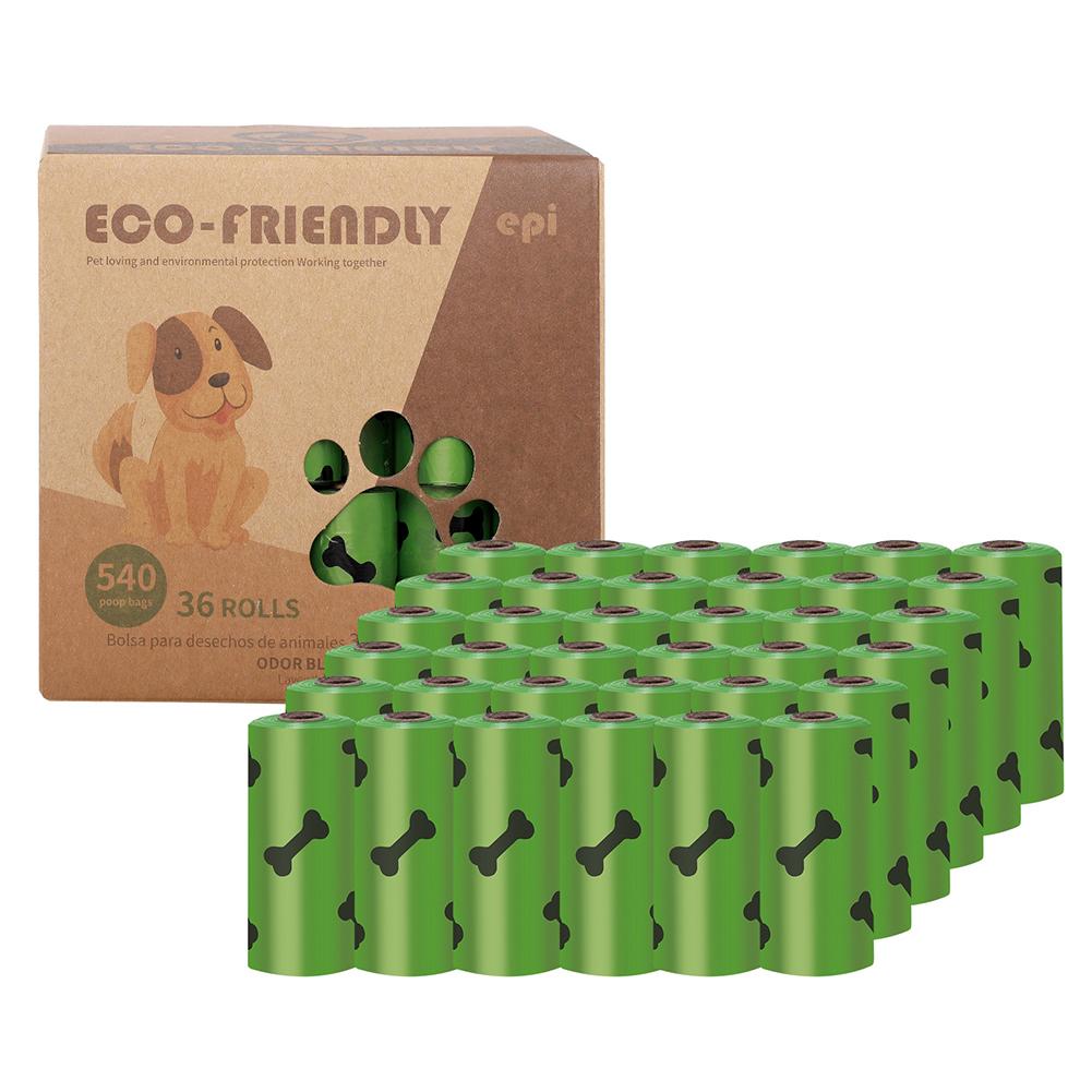 Dog Poop  Bag Pet Poop Picker Degradable Poop Picker Eco-friendly Dog Waste  Disposal  Bags 36 rolls (environmental printing thickness 1.5 ribbon fragrance)