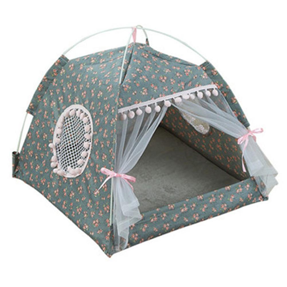 Pet Tent Cloth Foldable Pet Fence Detachable Washable Cat and Dog Cage