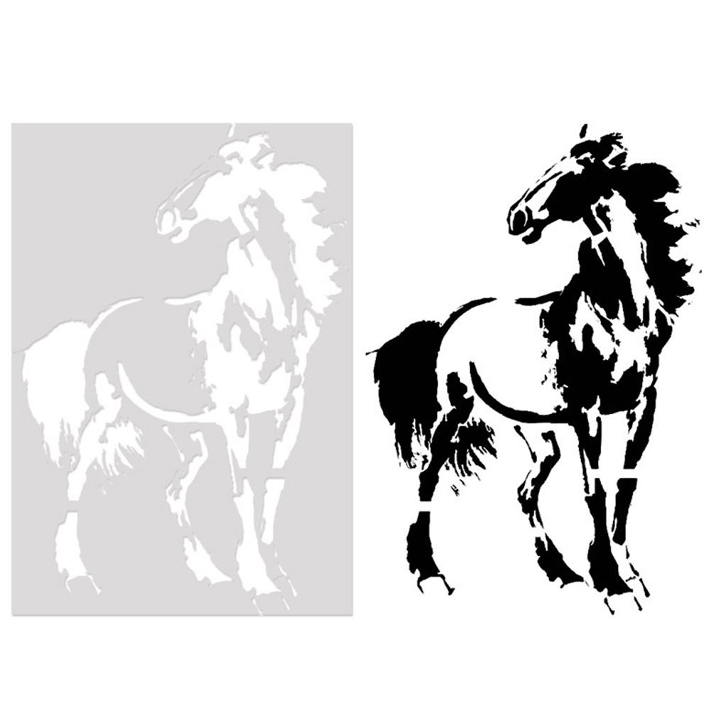 1PC Hollow Out Stencils Animal Graffiti Painting Template