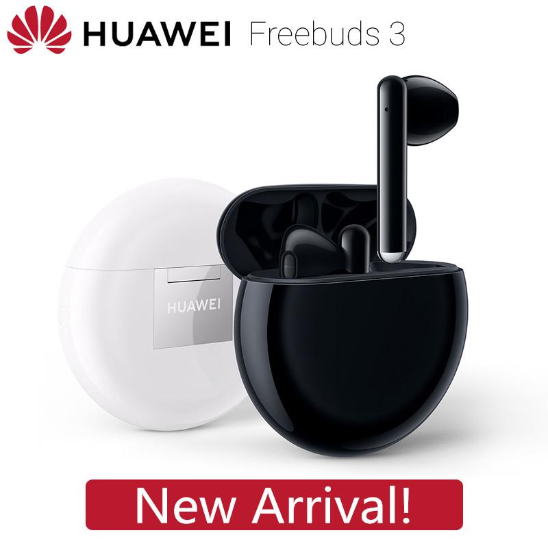 [JP Direct] Original HUAWEI Freebuds 3 Wireless Headsets TWS Bluetooth Earphone Active Noise Reduction Bluetooth 5.1 Tap Control 20 Hours Playback Carbon Black_True wireless earphones