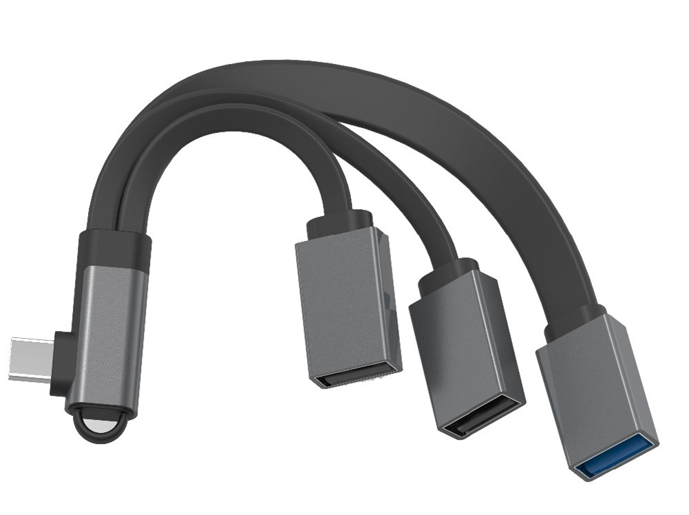 3-in-1 Type C Hub Multiport Adapter Type C to USB3.0 + 2 USB2.0