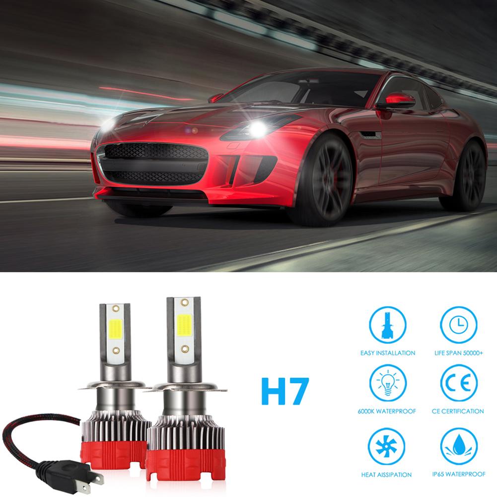 2PCS 120W 12000LM Mini Assembly H1 H7 H4 H8/H9/H11 9005 9006 LED Car HeadLight Fog light H7