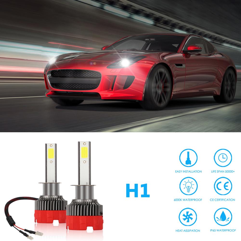 2PCS 120W 12000LM Mini Assembly H1 H7 H4 H8/H9/H11 9005 9006 LED Car HeadLight Fog light H1