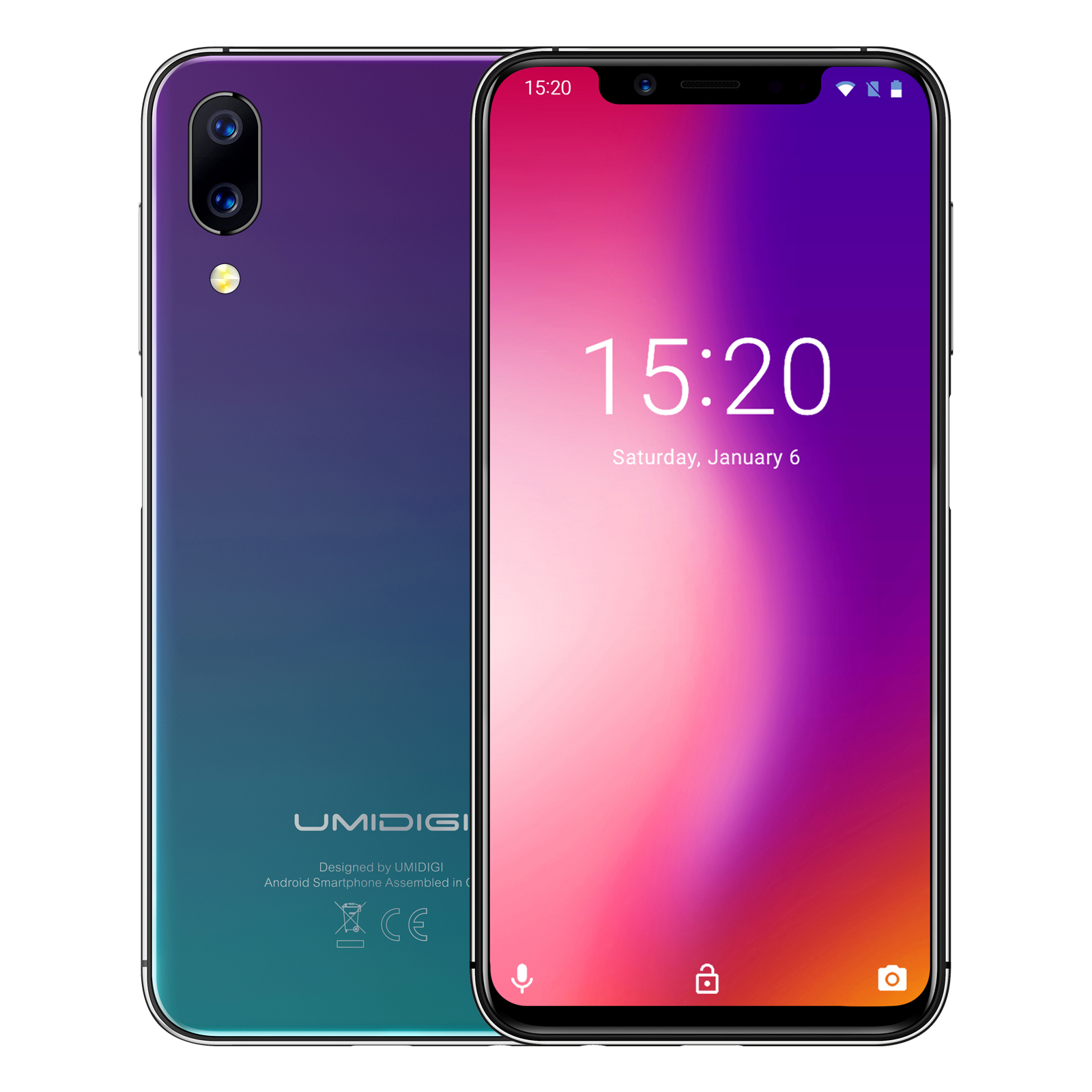 UMIDIGI Black 5.9 Android 8.1 Mobile Phone