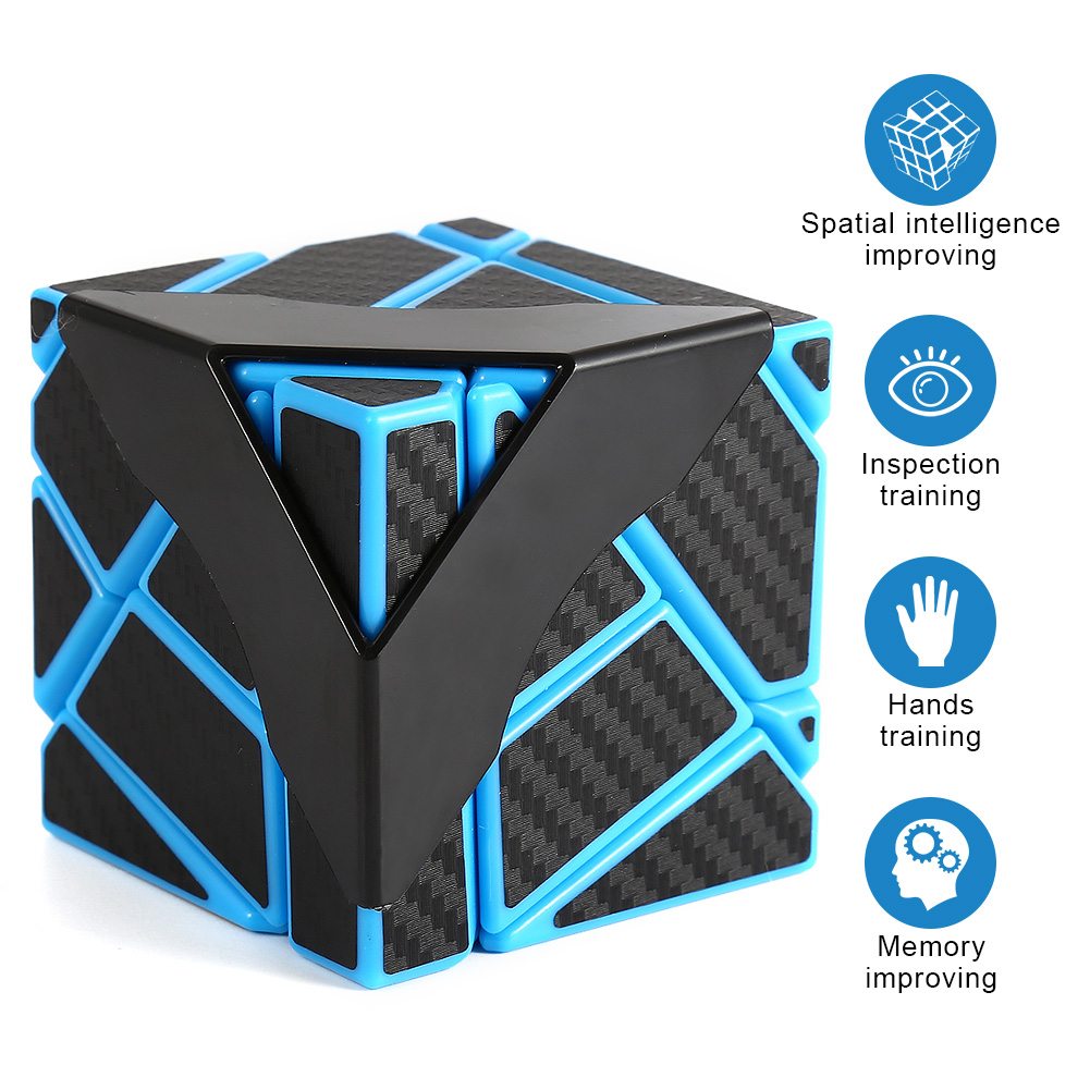 [US Direct] New third-order ghost carbon fiber cube finished product-blue and black