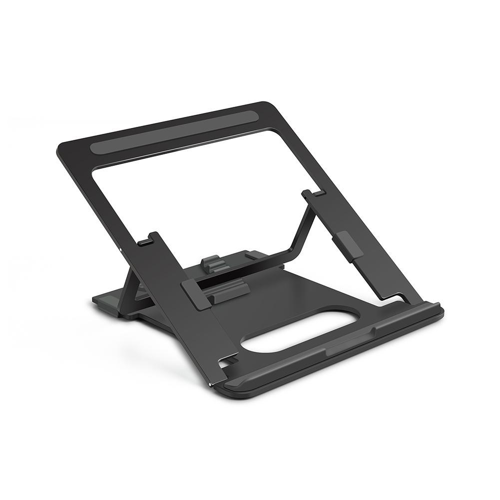 Multi Function Alluminum Alloy Portable Laptop Holder Folding Computer Riser Cooling  Cooling Holder black
