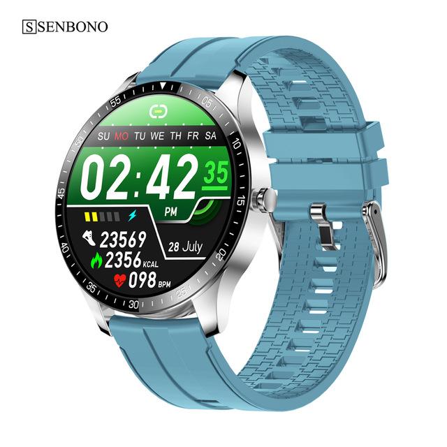 S80 Smart  Watch 1.28 Inch 240*240 Resolution Ratio 200mah Health Sports Watch Blue rubber