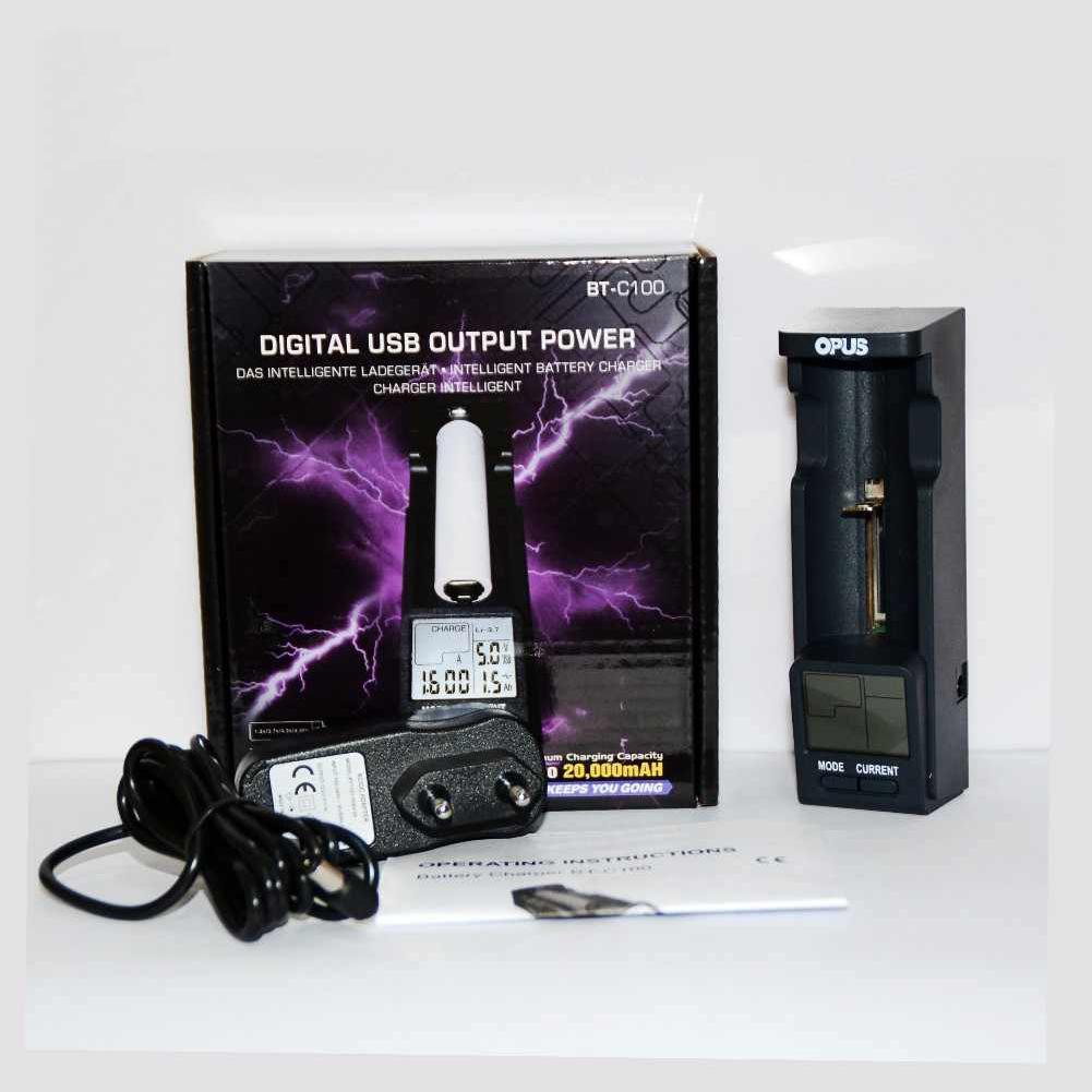 OPUS BT-C100 Digital LCD Intelligent Battery Charger for LiFePO4 Ni-MH NiCd  EU plug