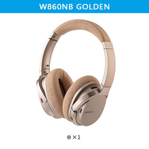 Original EDIFIER W860NB Bluetooth Headphones ANC Touch Control NFC Apt-X Audio Decoding Wireless Earphone Golden