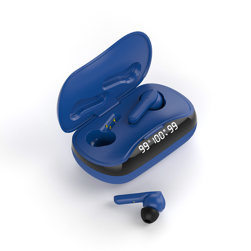 Wireless Bluetooth Headset Binaural In-ear Stereo Tws-210 Waterproof Ipx5 Earphones blue