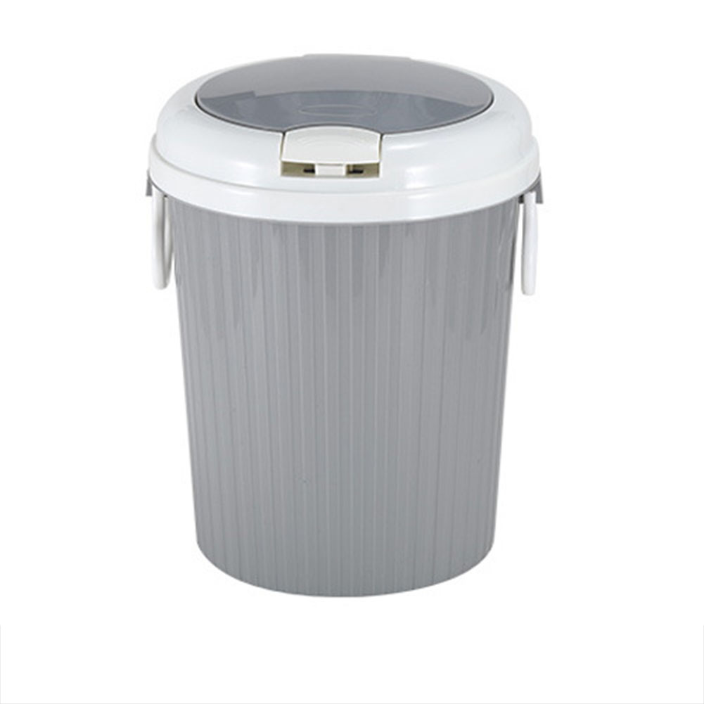 Portable Trash Can Garbage Bin Swing Lid