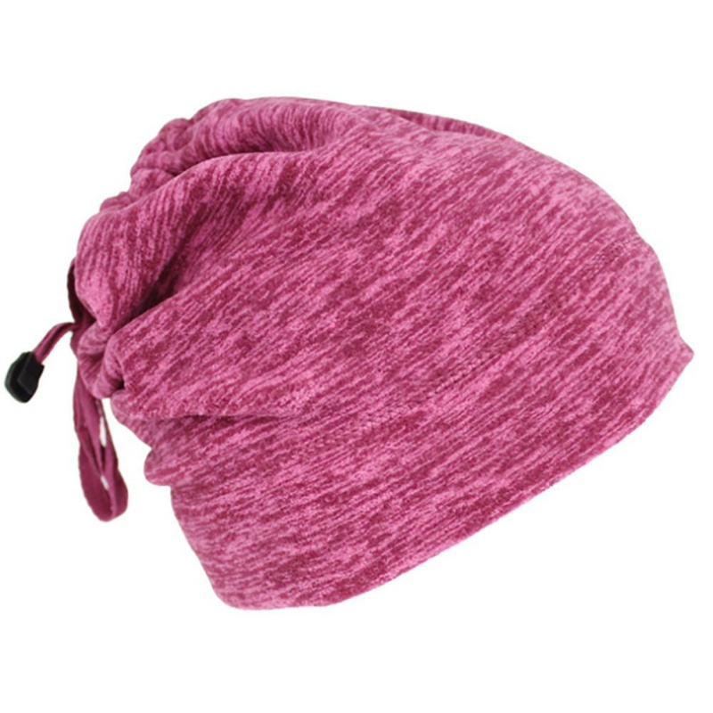 Warmful Scarf Hat Dual Purpose Autumn Winter Scarf Collar O Ring Neckerchief Warm Neck Fleece Thickened Neck Scarf YL-WB-08 wine red_One size