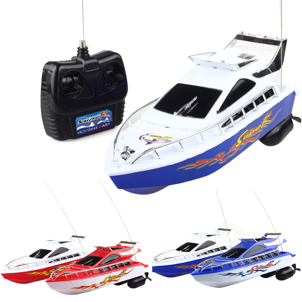 Four Channels Remote Control Boat Speedboat Water Toy Boat Random Color