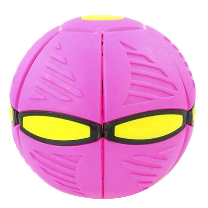 Magic Flying Saucer Ball Deformation UFO Ball with LED Light and Music Elastic Vent Ball Gift for Kids
