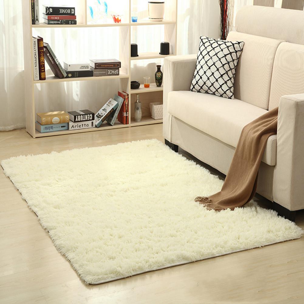 Soft Foam Shaggy Rug Non Slip Bedroom Memory Mat Batn Bathroom Shower Carpet Colors:Gray 50*80cm/1.6*2.6ft beige