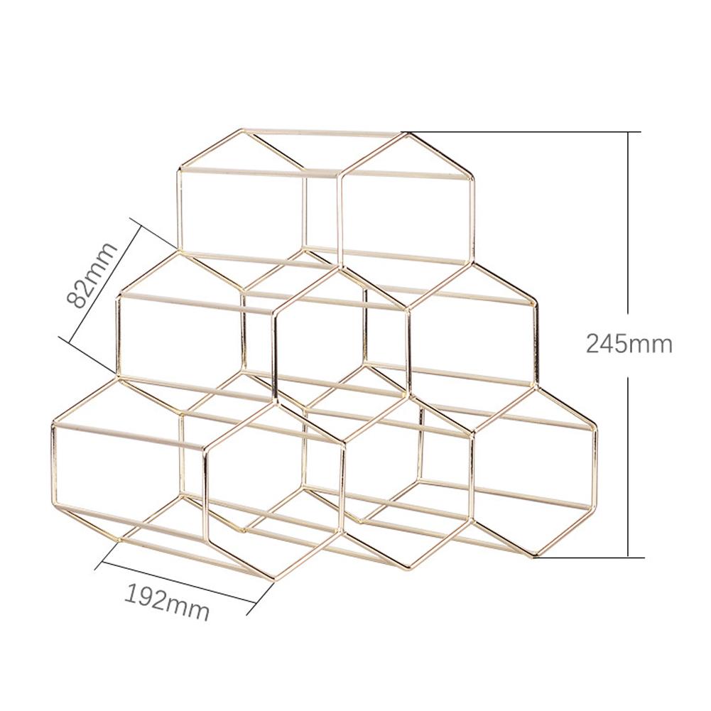 Honeycomb Storage Rack Gold Color Wine Rack for Living Room Wine Cabinet Display Gold