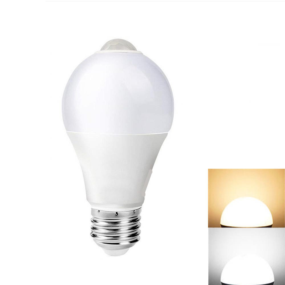 10LEDs Infrared Motion Sensor Bulb E27 85-265V