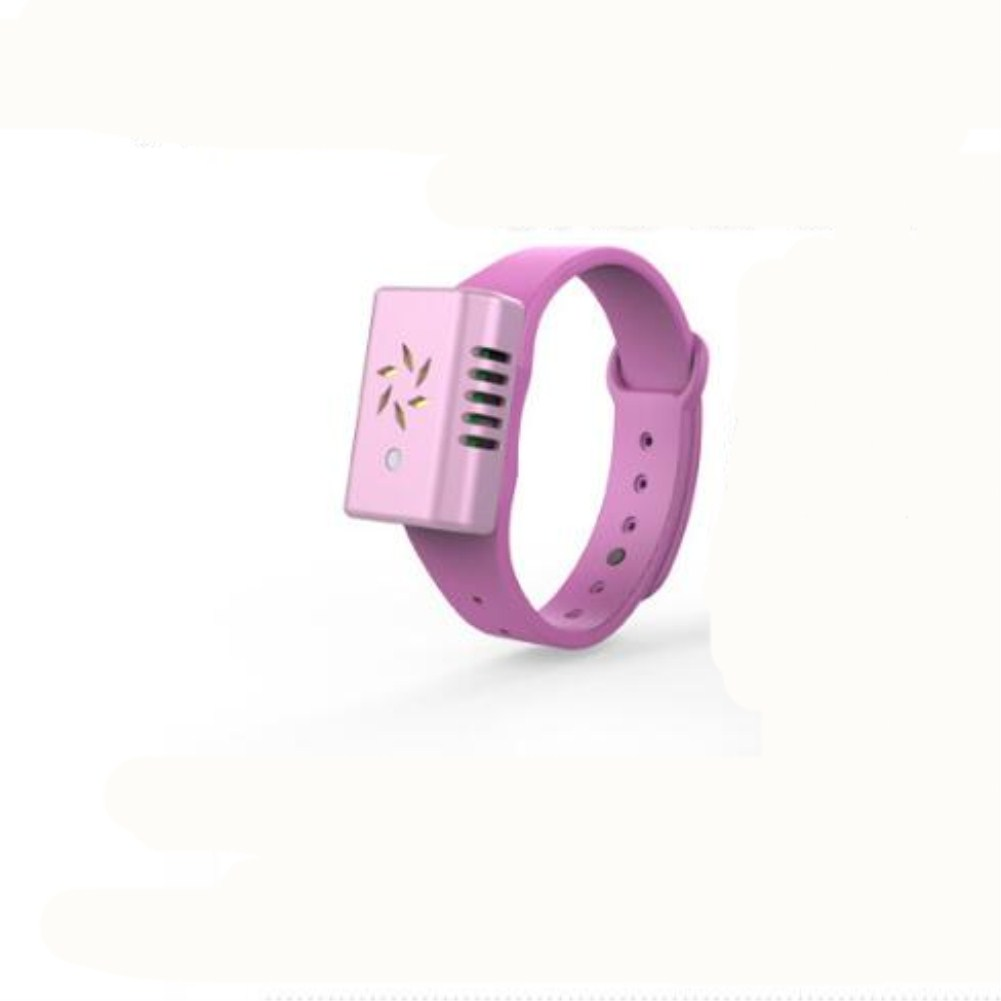 Ultrasonic Intelligent Outdoor Wild Mosquito Repellent Bracelet  Children Silicone Sports Bracelet Pink
