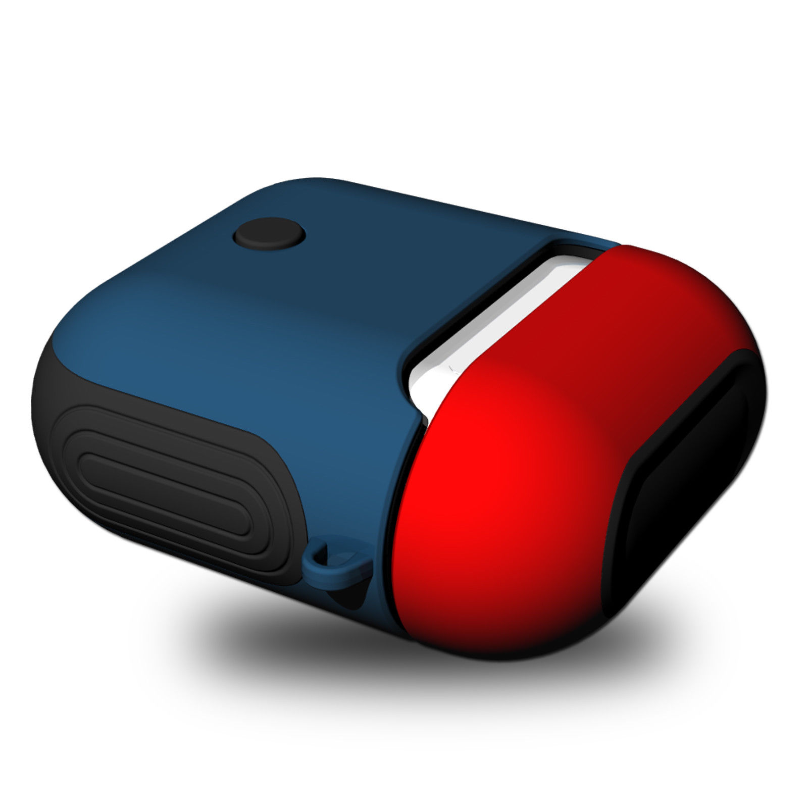 6bbe9410068 ... Apple Airpod Charging Case Red blue. AirPods Silicone Protective Cover  Red blue