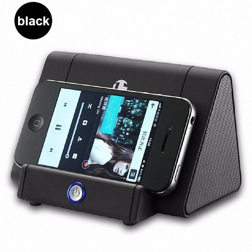 Mini Antomatic Induction Small Speaker Loud Speaker black