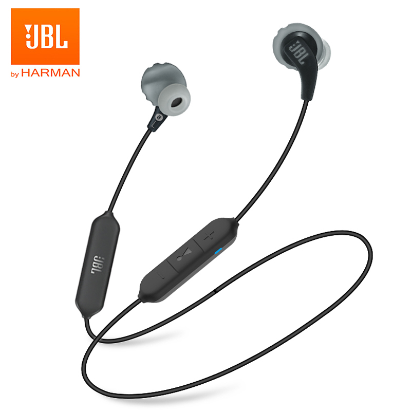 Original JBL Bluetooth Earphone JBL ENDURANCE Run BT Wireless Bluetooth Earphones Sports Headphones IPX5 Waterproof Headset Magnetic Earbuds with Microphone black